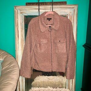 VeryJ Pink Puffer Zip-Up Jacket
